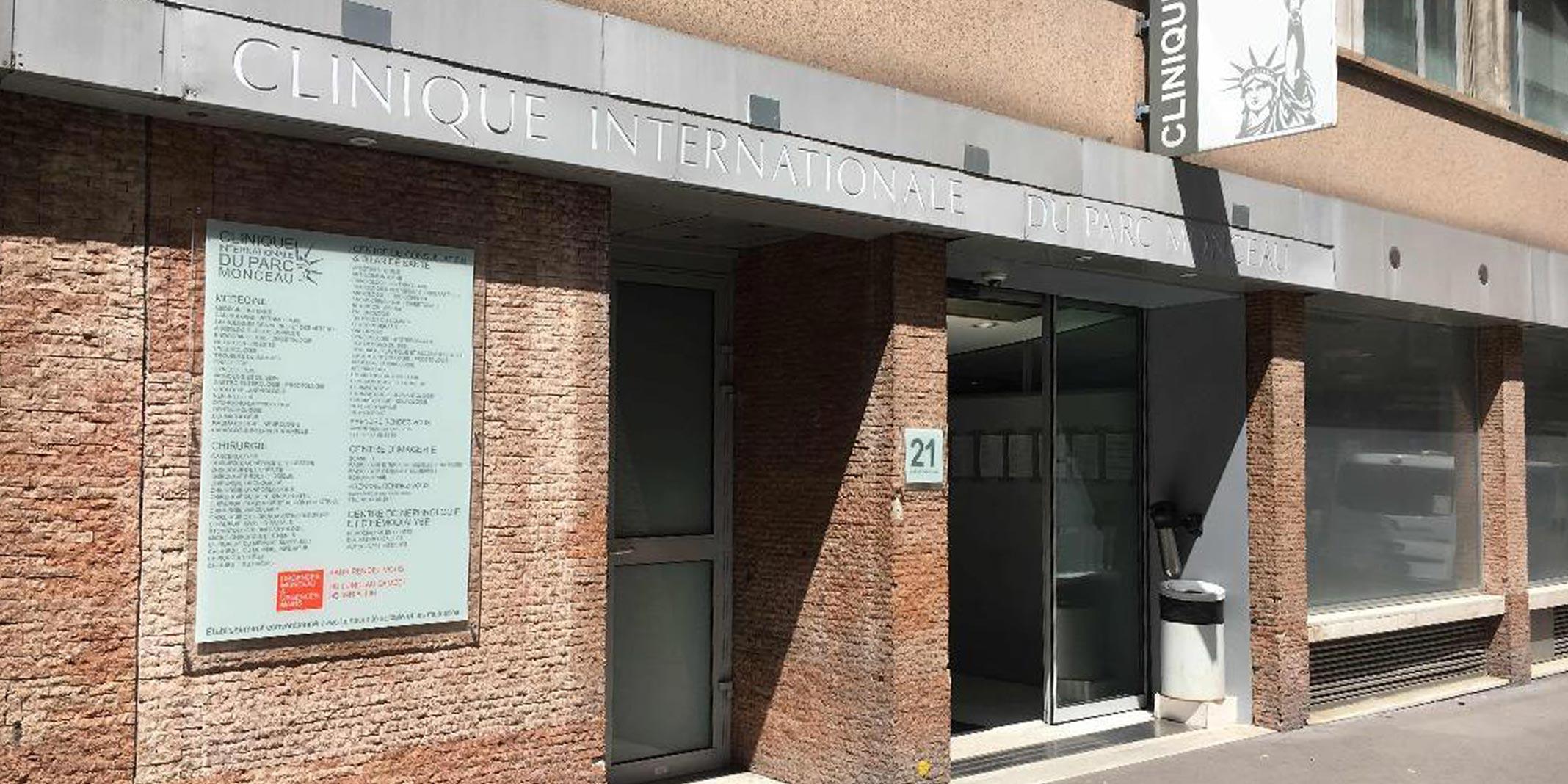 Clinique internationale du Parc Monceau à Paris 08 du Dr Servajean